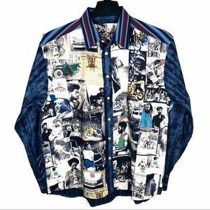 BLACK HISTORY Americana Robert Graham Shirt XL